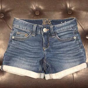 EUC. Justice jean shorts. Size 7.